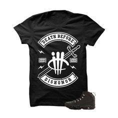 Death Before Dishonor Jordan 9 Anthracite Black T Shirt