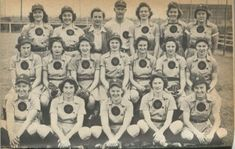 The Rockford Peaches. 1945. Library of Congress. LC Blog - A League of Their Own.