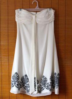 Beautiful EUC WHITE HOUSE BLACK MARKET Womens Sz 2 Halter Embroidered Dress EUC #WhiteHouseBlackMarket