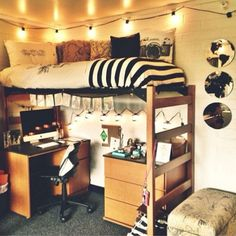 Dorm Room Set Up Small.College Dorm Setup New PC Build : Battlestations. How To Create The Minimalist Dorm Room Of Your Dreams . Dorm Room Organization Ideas Home and Family Cool Dorm Rooms, College Dorm Rooms, Dorm Room Themes, College Bunk Beds, Indie Dorm Room, Dorm Room Styles, College Room Decor, Decor Room, Dorm Room Pictures
