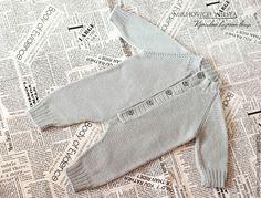 Купить Вязаный комбинезон для новорожденного - серебряный, комплект для выписки, комбинезон, крещение, Вязаный комплект