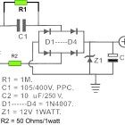 These are DC power supply circuit which designed without transformer (trafo). The circuit draws about AC. Use for small electronic application only Circuit Drawing, Power Supply Circuit, Hobby Electronics, Electronic Schematics, Circuit Diagram, Arduino, Transformers, Circuits, Solar