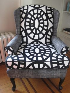 Wingback chair.