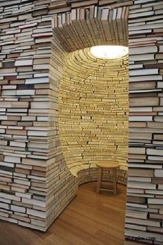 Aaaaaaah I need this in my house  Book rooms are the next best thing to a library with the rolling ladders
