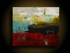 Large Abstract Painting Modern Painting Canvas by therawcanvas
