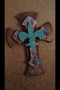 Decorative wooden cross by QutieTootie on Etsy, $35.00