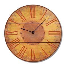 Brown Wood Sunflower Clock (Warm Sunflower Clock 30)