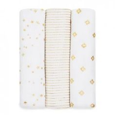 Aden + Anais 3 Pack Swaddles are great blankets for many uses, Including, swaddle tummy time blanket stroller cover changing table cover burp clo Aden Et Anais, Dream Blanket, Gold Sheets, Stroller Cover, Baby List, Baby Swaddle, Security Blanket, Baby Online, Baby Boutique