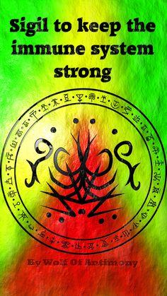 Sigil to keep my immune system strong Witch Symbols, Rune Symbols, Magic Symbols, Symbols And Meanings, Spiritual Symbols, Viking Symbols, Egyptian Symbols, Viking Runes, Ancient Symbols