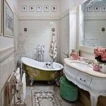 banyoda farkli bir tarz vintage banyo dekorasyonu aksesuar kuvet mobilya vitrifiye ve vintage musluk aksesuar (4)
