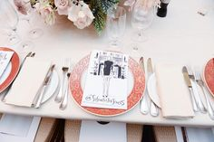 The place cards at Susan Foster's recent dinner party in New York, all drawn by illustrator Justin Teodoro.