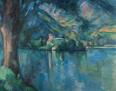 """Le Lac d'Annecy"" (1896) By Paul Cézanne, from Aix-en-Provence, Provence, France (1839 - 1906) - oil on canvas; 64.2 x 79.1 cm; 25 1/4 x 31 1/8 in - [Post-Impressionism] Place of creation: Lake Annecy ( Lac d'Annecy) is a perialpine lake in Haute-Savoie in France"