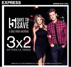 Sólo hoy y mañana en EXPRESS Antara 3x2 en toda la tienda. ¡Imperdible!