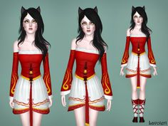 Ahri Outfit from League of Legends by Lavoieri  Found in TSR Category 'Sims 3 Female Clothing Sets'