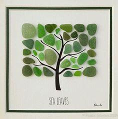 Sea glass craft, tree #seaglassdiy