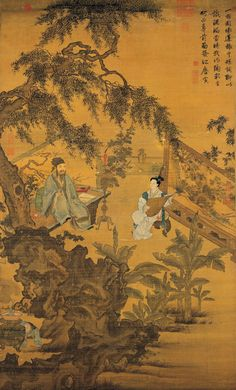 "Tang Yin, Tao Gu Presents a Poem. Tang Yin (唐寅,1470-1523), better known by his courtesy name Tang Bohu (唐伯虎), was a Chinese scholar, painter, calligrapher, and poet of the Ming Dynasty whose life story has become a part of popular lore. Tang Yin is regarded as one of the painting elite - ""the Four Masters of Ming"" (明四家), which also includes Shen Zhou, Wen Zhengming, and Qiu Ying (仇英, ca.1495-1552). Tang was also a talented poet and scholar…"