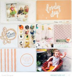 My girls October PL Spread by allisonkreft at @studio_calico - Project Life
