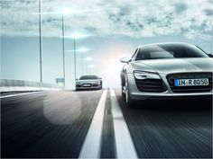 Front row #Audi #R8