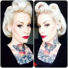 the Beautiful Frisuren 50 Perfect Pin Up Hairstyles - My New Hairstyles Dried Flower Wreaths Keep Na 50s Hairstyles, Vintage Hairstyles, Wedding Hairstyles, Cabelo Pin Up, Peinados Pin Up, Rockabilly Mode, Rockabilly Fashion, Rockabilly Makeup, 50s Makeup