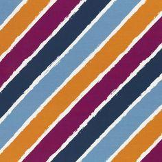 "French Terry ""Diagonally"" berry/ocker - LYCKLIG Design"