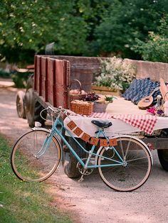 """A picnic in the back of an old farm truck~we had """"picnics""""by the old farm truck my entire life growing up!! in the middle of a wheat field lol"""