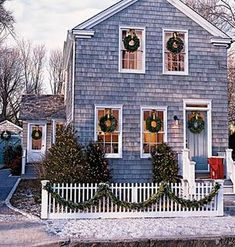 New England Christmas #tistheseason #tuckernuck Christmas Time Is Here, Noel Christmas, Merry Little Christmas, Country Christmas, Winter Christmas, Christmas Wreaths, Cottage Christmas, Christmas Porch, Simple Christmas
