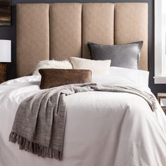 Humble + Haute Victoria Tall Queen Size Beige Upholstered Headboard