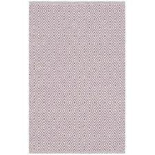 Shevchenko Place Hand-Woven Ivory/Purple Area Rug