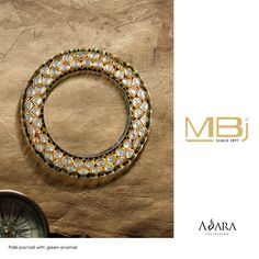 Polki pacheli with green enamel from ADARA collection of MBj.