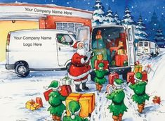 The Final Consignment Front Personalised Cards featuring your company name and logo. Corporate Christmas Cards, Business Company, Corporate Business, Personalised Christmas Cards, Name Logo, Cartoon Design, Cool Cartoons, Elves, Finals
