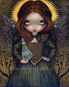 Dress of Alchemy alchemical symbols angel fairy art by strangeling, $29.99
