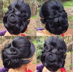Dress Your Face is pure genius when it comes to makeup and hair! This updo is proof of that. Bridal Hair Buns, Bridal Hairdo, Bridal Hair And Makeup, Hair Makeup, Wedding Makeup, Party Hairstyles, Braided Hairstyles, Wedding Hairstyles, Hairstyles Videos