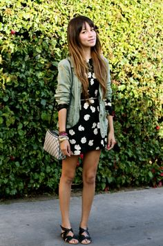 How cute is this girl and her outfit?