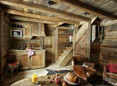 Rustic modern cabin interior