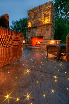 Starry Starry Concrete by Brianwithaneye, super fiber optics in path or patio flooring. Landscape Lighting, Outdoor Lighting, Outdoor Decor, Lighting Ideas, Fiber Optic Lighting, Patio Flooring, Concrete Countertops, Home And Deco, Backyard Landscaping