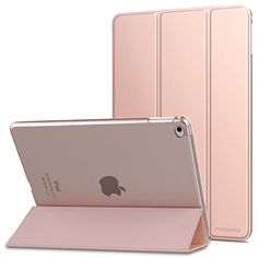 MoKo iPad Air 2 Case  Ultra Slim Lightweight Smartshell Stand Cover with Translucent Frosted Back Protector for Apple iPad Air 2 97 Inch Tablet Rose GOLD with Auto Wake  Sleep Not fit iPad Air >>> You can find out more details at the link of the image.