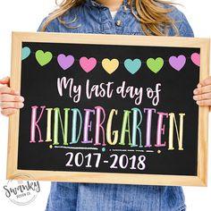 LLast Day of Kindergarten, Printable Last Day, School Sign, Last Day School Sign, Last Day of School Chalkboard Sign, Kindergarten Sign