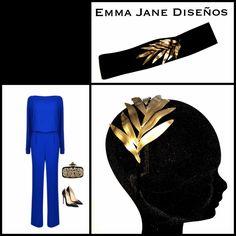 Diadema y cinturón de porcelana , creada y pintada a mano por Emma Jane Diseños  Head peace and belt made of porcelain, shaped and painted by hand by Emma Jane Diseños