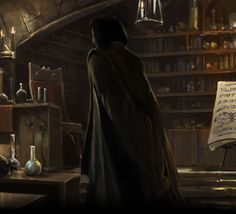 Professor Severus Snape Character | Professor Snape during the first Potions lesson