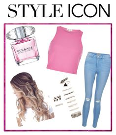 """""""ICON"""" by aamna16 on Polyvore featuring Versace, River Island, New Look and Forever 21"""
