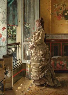 """Melancholy"" (1876) by Alfred Stevens (1823-1906)."