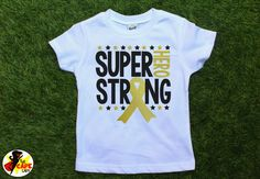 Childhood Cancer shirts, cancer awareness, go gold, pediatric cancer, Super Hero…