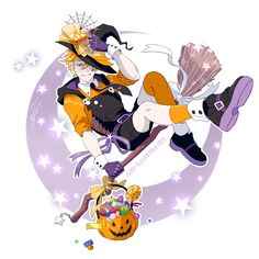 Trick or Treat Art Print by abd-illustrates Fantasy Character Design, Character Design Inspiration, Character Art, Male Witch, Anime Witch, Halloween Cartoons, Pretty Drawings, Epic Art, Cute Anime Boy