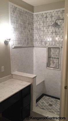Bathroom Remodel In Dallas, TX Tile Work New Tile Mosaic Tile Modern  Bathroom Tile