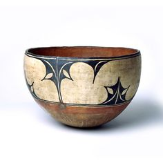 American-Indian Bowl, Santo Domingo Pueblo. Slip painted clay. Mingei International Museum of Folk Art, Craft, Design.