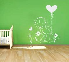 Picking flowers Kids Room Wall Stickers, Nursery Wall Decals, Bedroom Wall, Love Symbols, How To Fall Asleep, Teddy Bear, Colours, Wall Art, Nursery Ideas