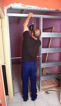 comment condamner proprement une porte avec du placo bricolage pinterest. Black Bedroom Furniture Sets. Home Design Ideas