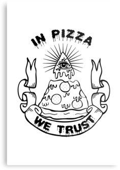 ... Grace › Portfolio › In Pizza We Trust - Black and White Version