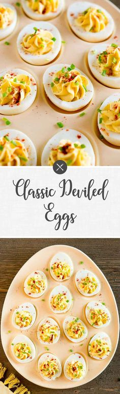 Classic Deviled eggs are a crowd-pleaser and a go-to appetizer recipe for any host. This classic deviled eggs recipe makes the perfect little bites.