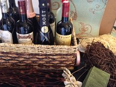 Wine Poem Basket - Bridal Shower Gift- SO CUTE!! just like the candle one but BETTER! hint hint lol Crystal you find the best things
